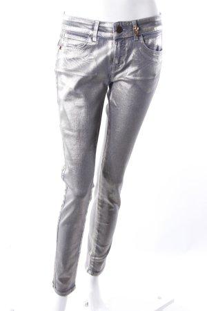 Rich & Royal Skinny Jeans Metallicbeschichtung