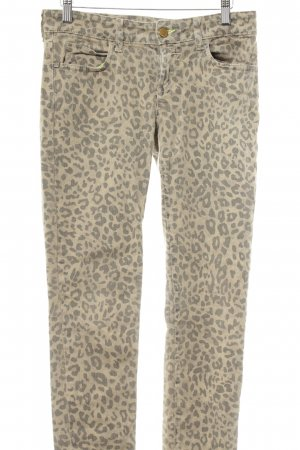 Rich & Royal Skinny Jeans sandbraun-grau Leomuster Animal-Look