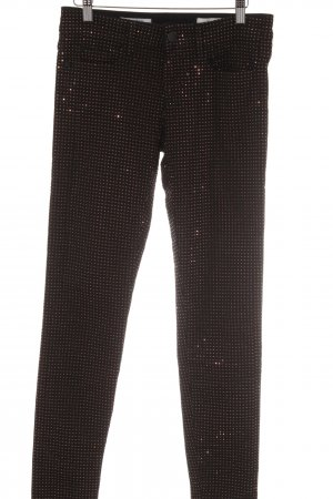 Rich & Royal Skinny Jeans schwarz-roségoldfarben Punktemuster Casual-Look