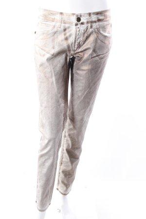 Rich & Royal Skinny Jeans weiß-bronzefarben