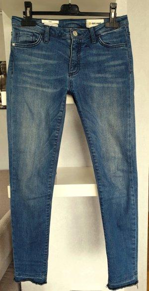 Rich & Royal Skinny Midi Jeans W27 Ausgefranster Saum
