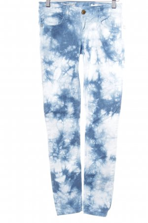 Rich & Royal Slim Jeans Batikmuster extravaganter Stil