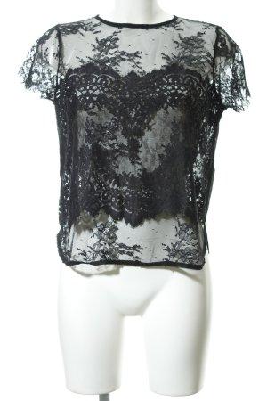 Rich & Royal Lace Top black elegant
