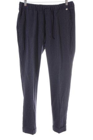 Rich & Royal Stoffhose weiß-dunkelblau Nadelstreifen Segel-Look