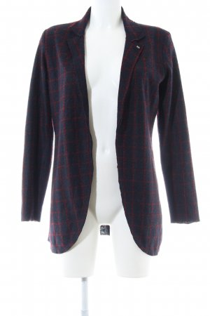 Rich & Royal Strickjacke blau-rot Karomuster Casual-Look
