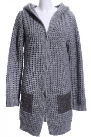 Rich & Royal Knitted Coat light grey graphic pattern casual look
