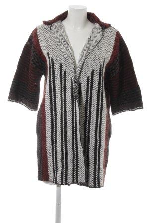 Rich & Royal Manteau en tricot imprimé abstrait style décontracté