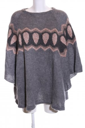 Rich & Royal Knitted Poncho graphic pattern casual look