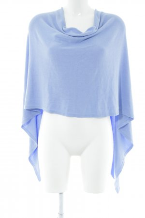 Rich & Royal Strickponcho blau Casual-Look