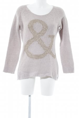 Rich & Royal Strickpullover altrosa Motivdruck Casual-Look