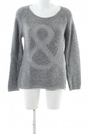Rich & Royal Strickpullover hellgrau Casual-Look