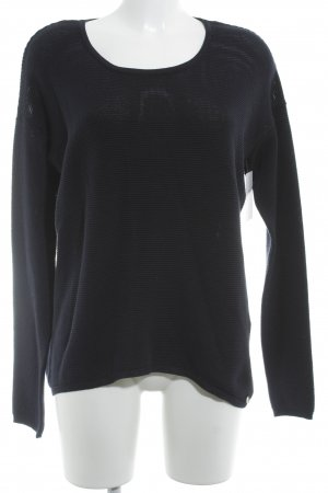 Rich & Royal Strickpullover dunkelblau Casual-Look