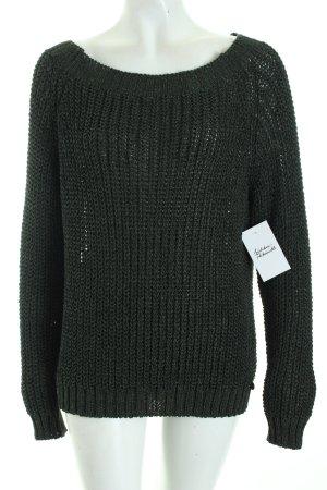 Rich & Royal Strickpullover dunkelgrün Casual-Look