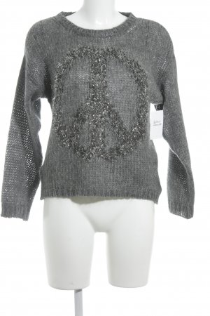 Rich & Royal Strickpullover grau Casual-Look