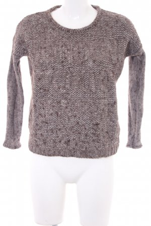 Rich & Royal Knitted Sweater grey brown-natural white flecked casual look