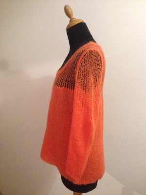 Rich & Royal Strickpullover grobmaschig fluffig cool farbe Blogger orange