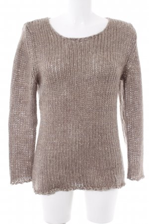 Rich & Royal Strickpullover hellbraun Casual-Look