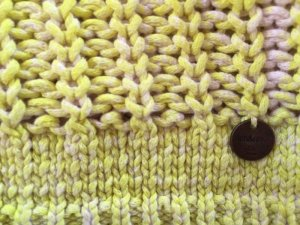 Rich&Royal Strickpullover in Gelb/Nude