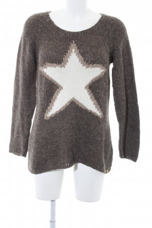 Rich & Royal Strickpullover Sternenmuster Casual-Look