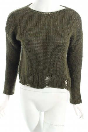 Rich & Royal Strickpullover waldgrün Kuschel-Optik