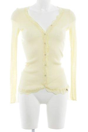 Rich & Royal Camisa tejida amarillo pálido look casual
