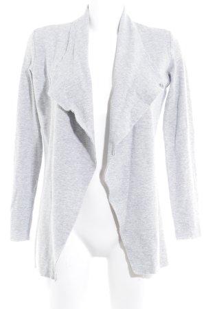 Rich & Royal Chaleco de punto gris claro moteado look casual