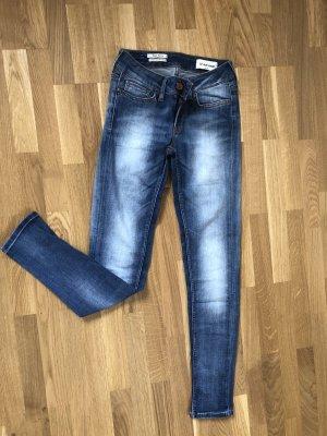 Rich & Royal Jeans skinny bleu azur