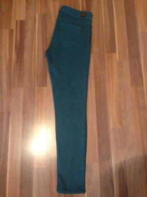 Rich & Royal Jeans skinny bleu pétrole coton