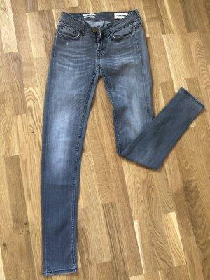 Rich & Royal Jeans skinny gris clair-gris
