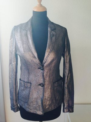 Rich&Royal Sweat Blazer Jersey Jacket metallic schwarz cool stylish extravagant