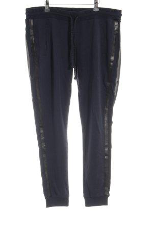 Rich & Royal Pantalon de jogging bleu foncé-noir style boyfriend