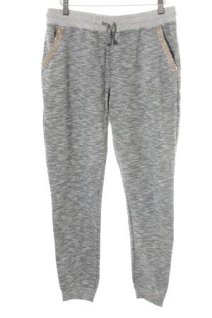 Rich & Royal Pantalone fitness grigio chiaro-grigio puntinato stile casual