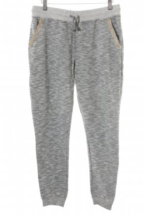 Rich & Royal Sweat Pants light grey-grey flecked casual look