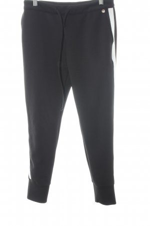 Rich & Royal Joggingbroek zwart-wit atletische stijl