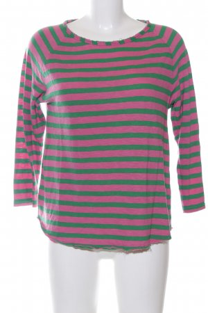 Rich & Royal Sweatshirt pink-grün Streifenmuster Casual-Look