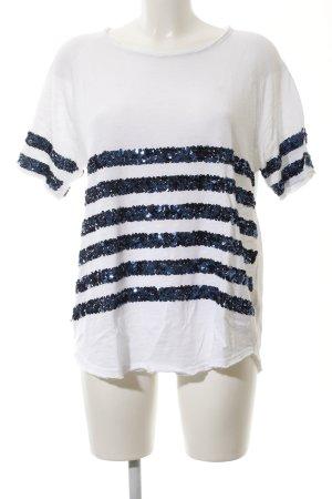 Schnäppchen 2017 professioneller Verkauf größte Auswahl an Rich & Royal T-Shirt weiß-blau Streifenmuster Casual-Look