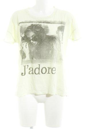Rich & Royal T-shirt lichtgroen prints met een thema casual uitstraling