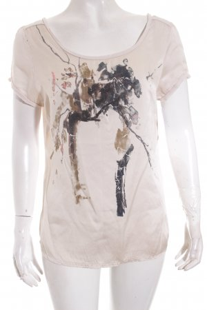Rich & Royal T-Shirt creme abstrakter Druck Casual-Look