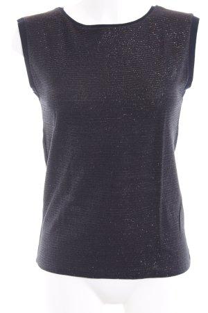 Rich & Royal T-Shirt dunkelblau-bronzefarben Streifenmuster 90ies-Stil