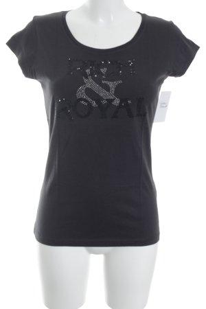 Rich & Royal T-Shirt dunkelbraun schlichter Stil