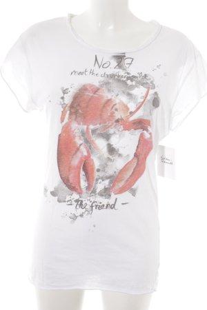 Rich & Royal T-Shirt Farbtupfermuster Casual-Look