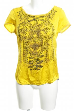 Rich & Royal T-Shirt gelb Motivdruck Boho-Look