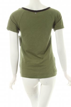 Rich & Royal T-Shirt grasgrün Motivdruck Casual-Look