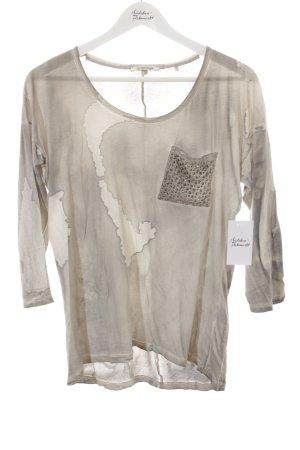 Rich & Royal T-Shirt grau-weiß abstraktes Muster extravaganter Stil