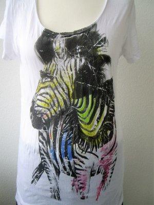 Rich & Royal: T-Shirt mit Zebra-Print (M)