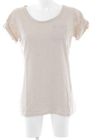 Rich & Royal T-shirt nude-neonoranje gestippeld patroon casual uitstraling
