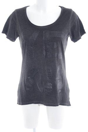 Rich & Royal T-Shirt Schriftzug gedruckt schlichter Stil