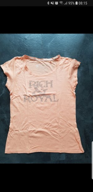 Rich & Royal T-Shirt Shirt Top Größe XL Nieten