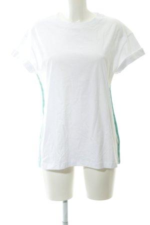Rich & Royal T-shirt wit-munt simpele stijl