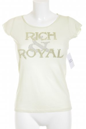 Rich & Royal T-Shirt wiesengrün schlichter Stil